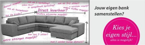 Moderne hoekbank op maat nu verkrijgbaar bij Ela Wonen & Slapen