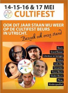 Culti-Fest in Utrecht op 14, 15, 16 en 17 mei!